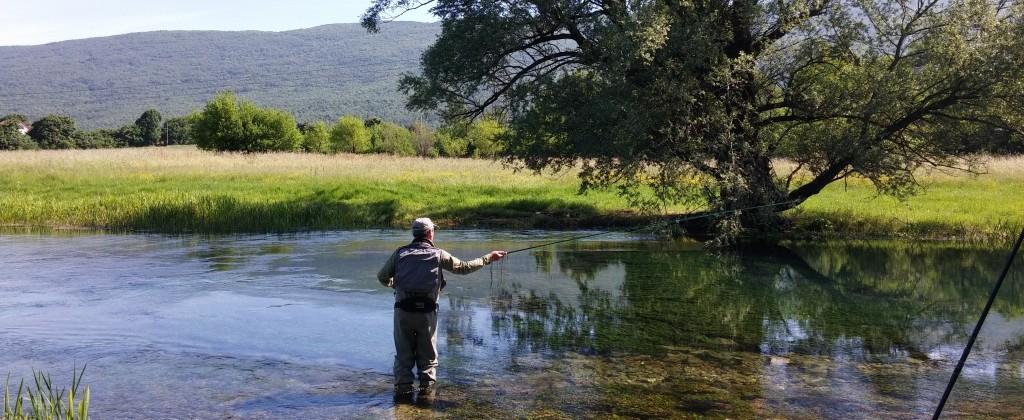 Fly fishing river gacka croatia accommodation and guiding for Fishing in croatia
